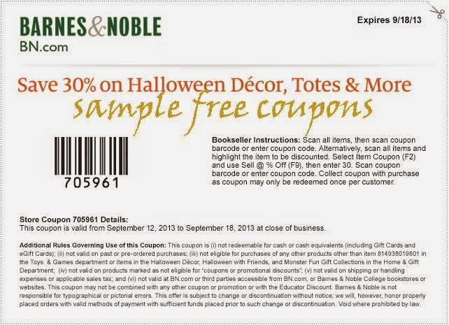 Discount coupons for barnes and noble