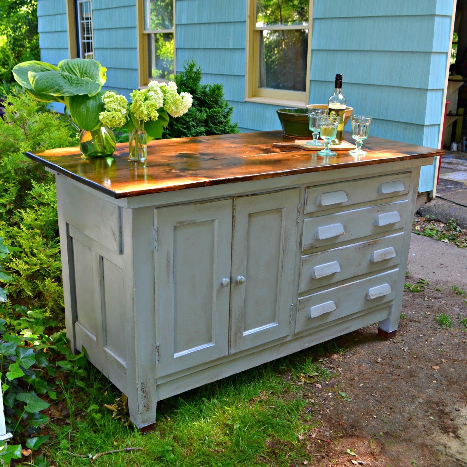 Antique Kitchen Work Tables Heir And Space An Antique Work Bench Turned Kitchen Island