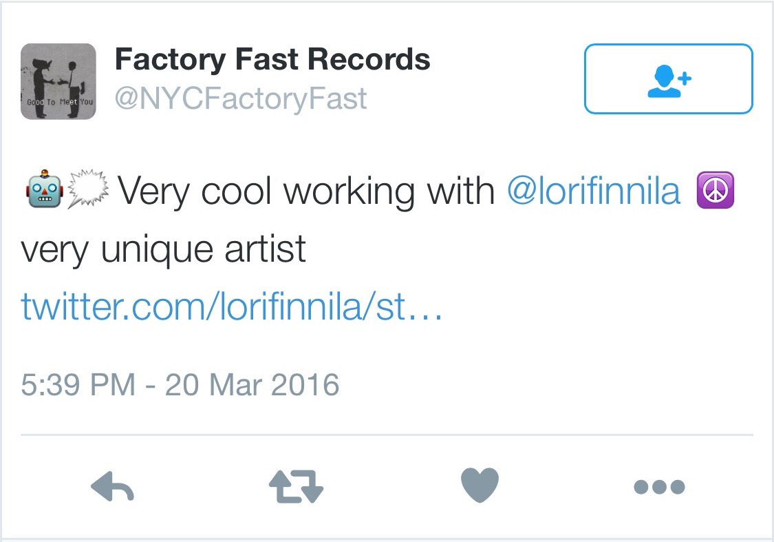 Love this from my label Factory Fast Records