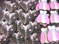 Fancy cookies Bentuk tuxedo dan gown