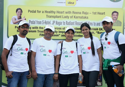 Reena Raju heart transplant lady from karnatka in go cycling go green