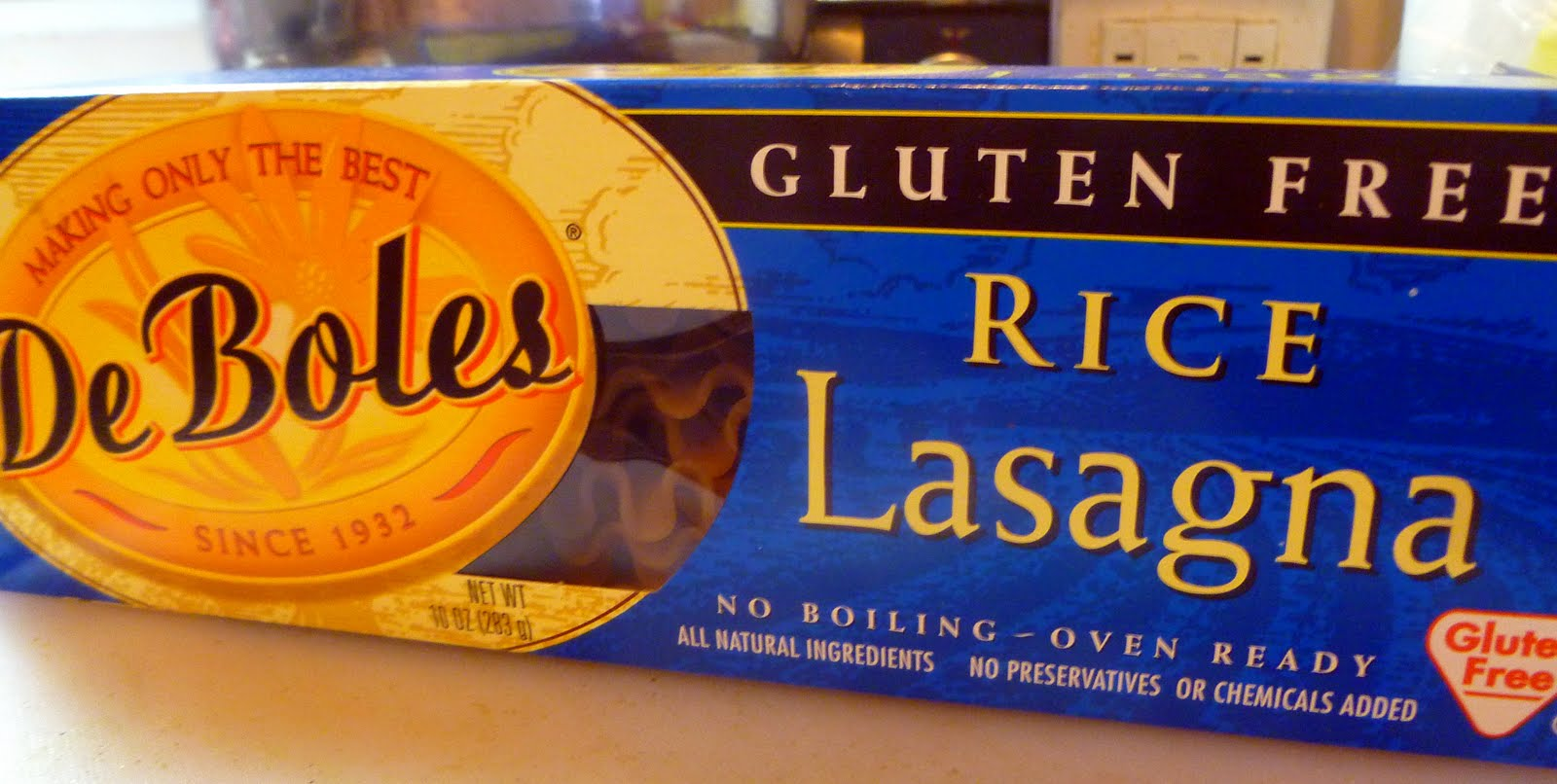 JeanC Reviews...: De Boles Gluten Free Rice Lasagna Noodles (no boil)