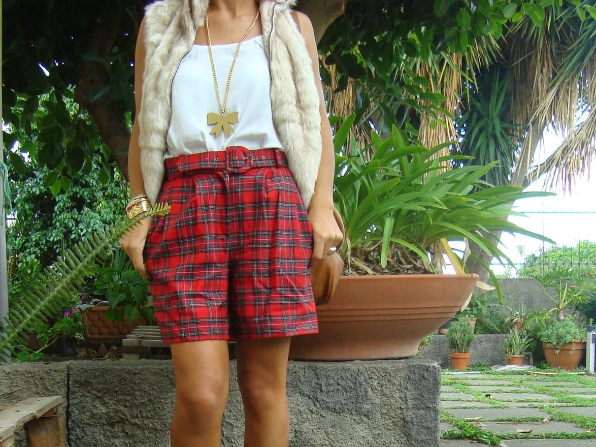 outfit tartan, blogger