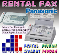 Rental (sewa) Mesin Fax Panasonic