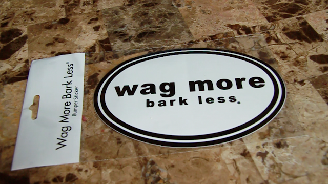 Dog lover bumper sticker from Cloud Star Wag more bark less.