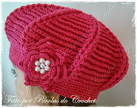 Boina de croche infantil