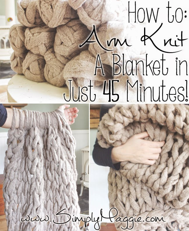 How to Arm Knit a Blanket in 45 Minutes