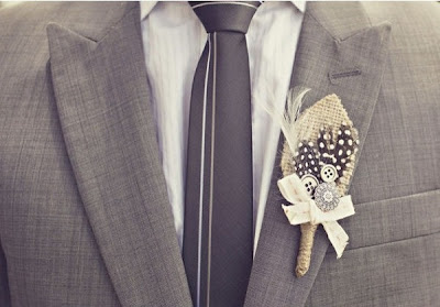 gifts bride: as promised, cute burlap boutonniere tutorial!