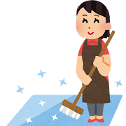 清潔な床のイラスト