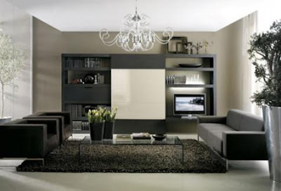salón muebles negros