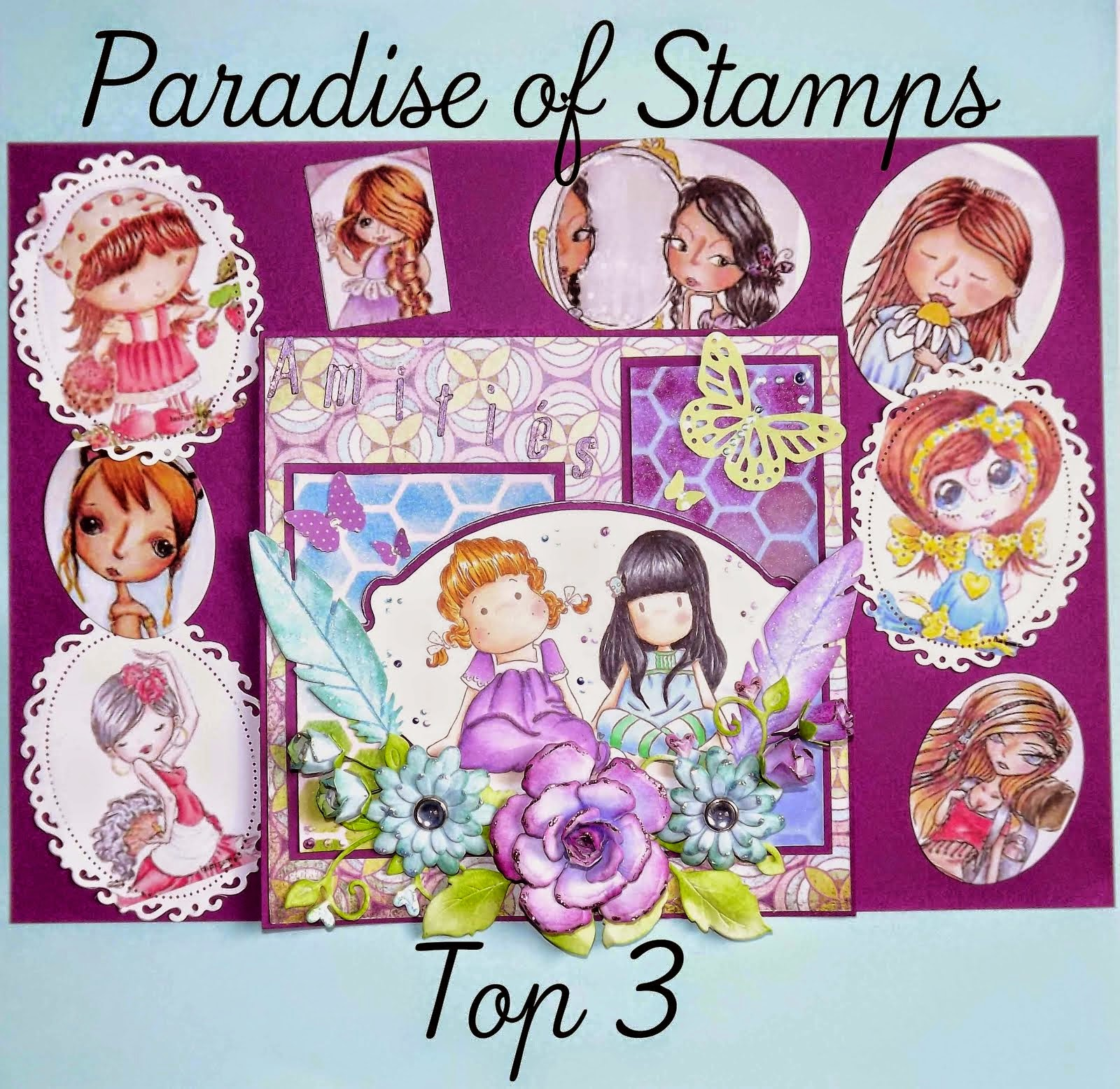 I  made top 3 - Paradise of stamps