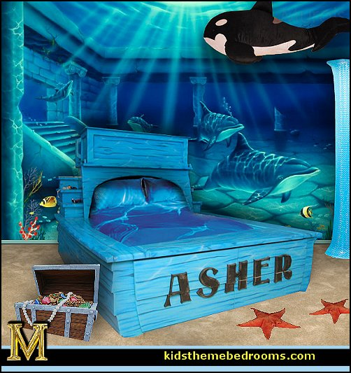 Decorating theme bedrooms maries manor whale theme for Under the sea bedroom designs