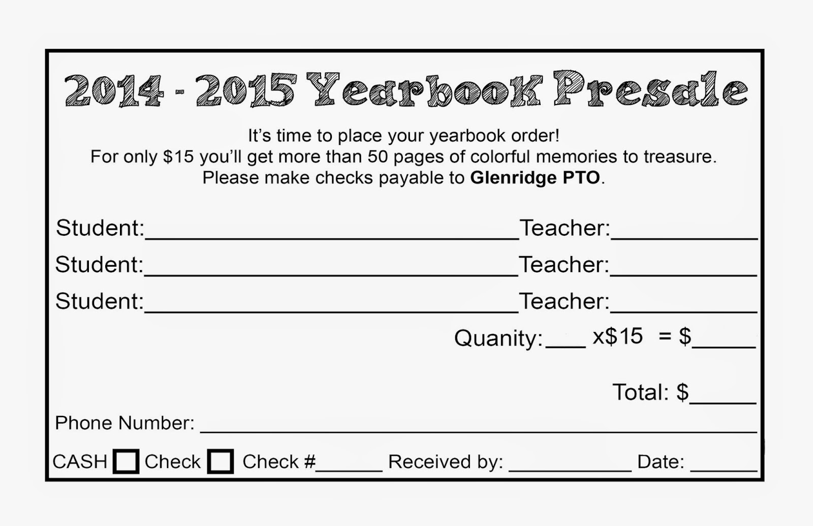 Glenridge PTO: April 2015