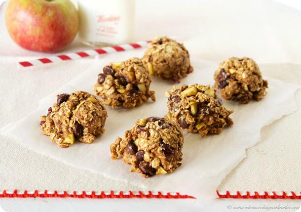 Apple Craisin Walnut Cookies #heathyeating #healthydessert #healthyrecipes