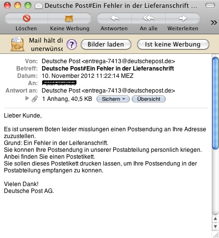 e mail deutsch