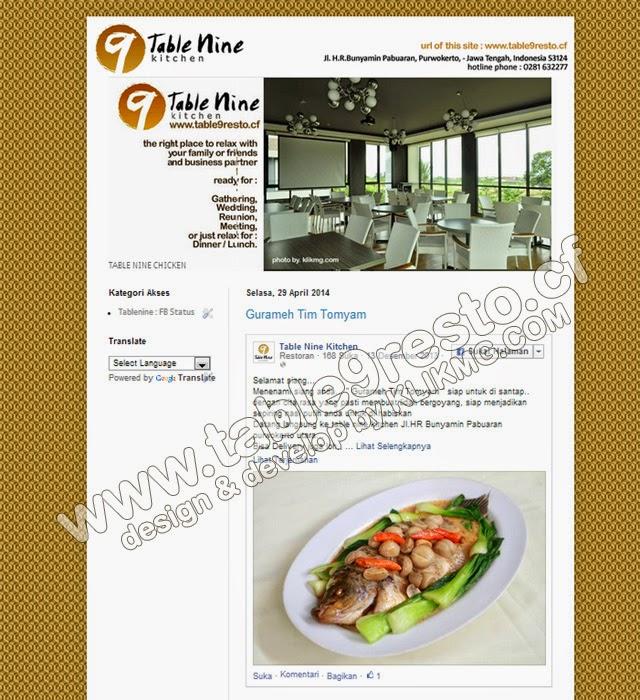 Table 9 Kicthen Resto - www.table9resto.cf - present by. KLIKMG.COM Web Develop & Manage