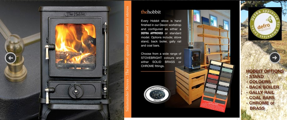 CLICK HERE TO SEE THE HOBBIT SMALL STOVE IN ACTION - Lighting The Hobbit Stove The Wood Burner Kitchen