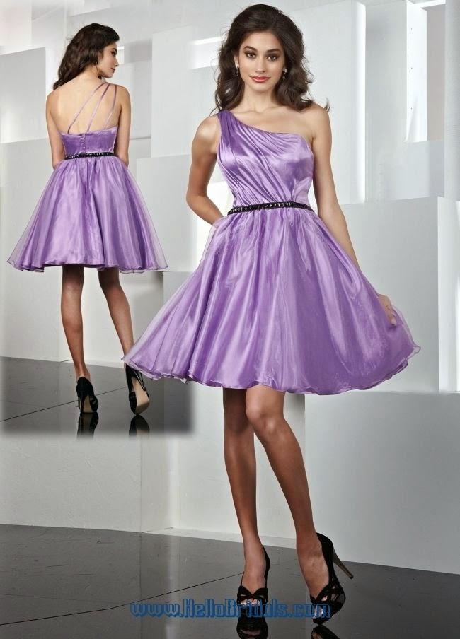 Único Vestido De La Dama De Honor De Color Púrpura Claro Patrón ...