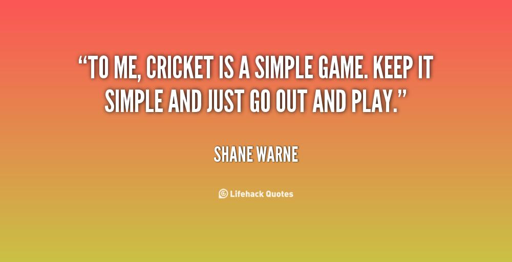 A cricket match essay quotes