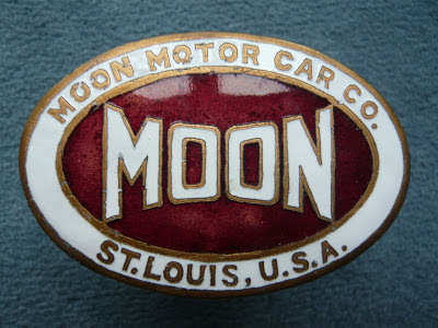 Moon radiator emblem badge