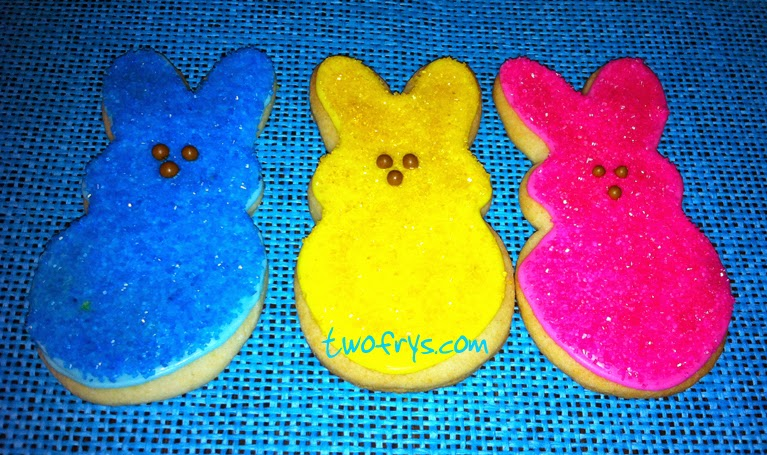 Two Frys: Easter Egg and Peeps Sugar Cookies
