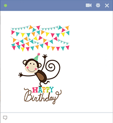 Birthday Monkey Facebook Sticker