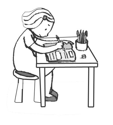 Graficos de niños estudiando - Imagui