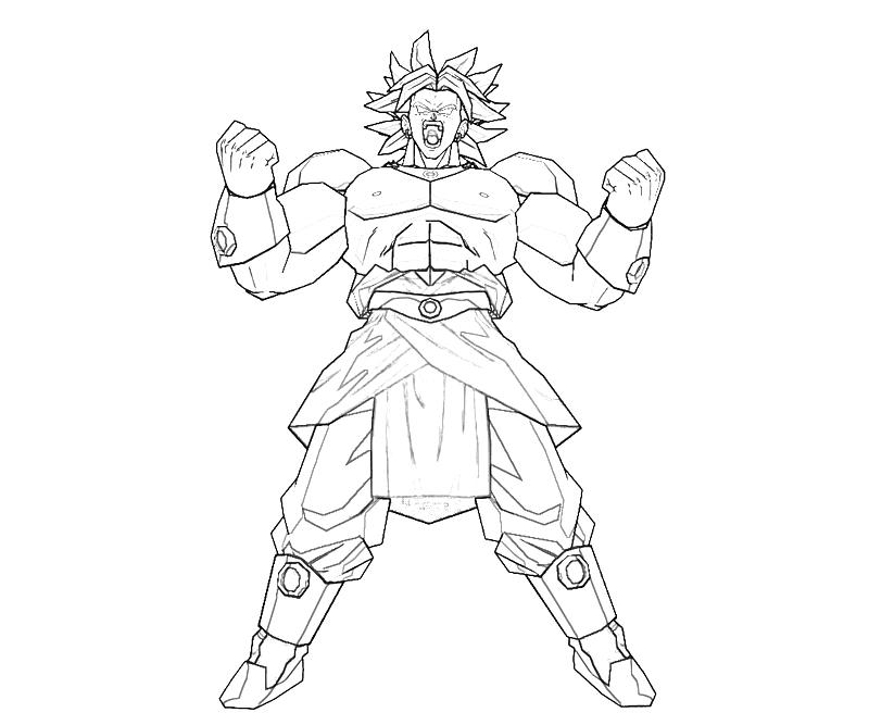 Broly Coloring Pages