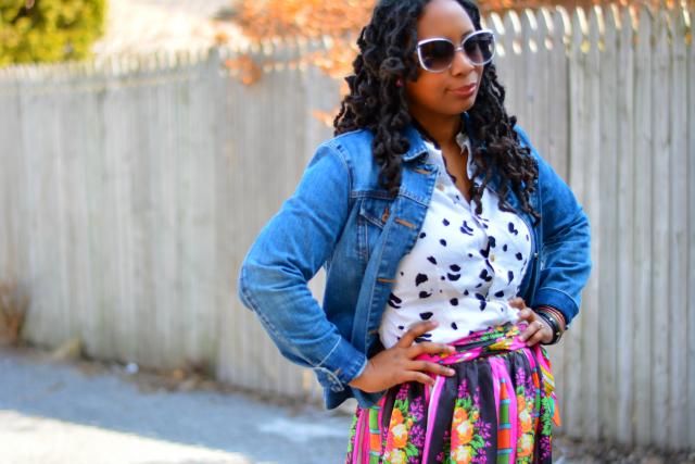 wearing vintage maxi skirt