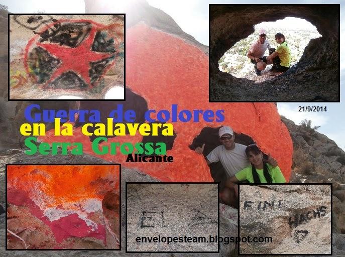 """Guerra de colores en la """"Calavera"""" de la Serra Grossa"""