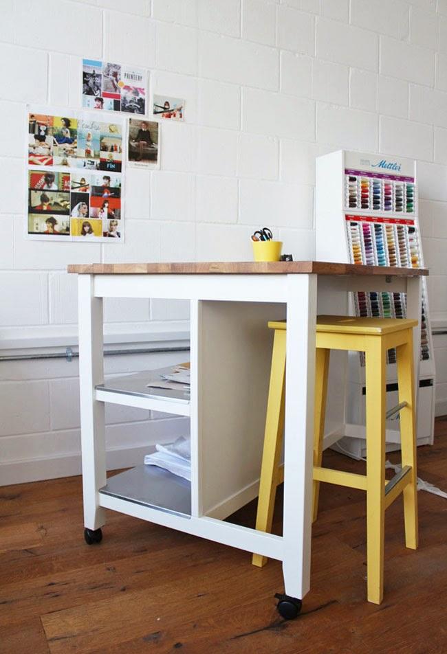 cutting table hack. beautiful ideas. Home Design Ideas
