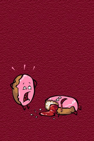 donut panic funny iphones wallpapers 5s 5c 6