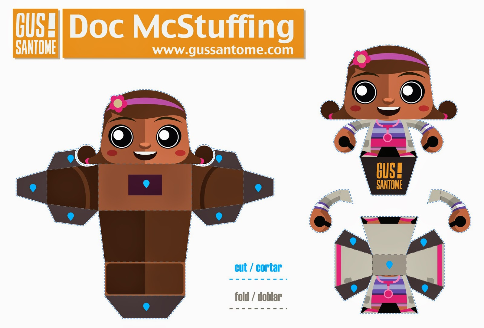 Mini Doc McStuffins Paper Toy