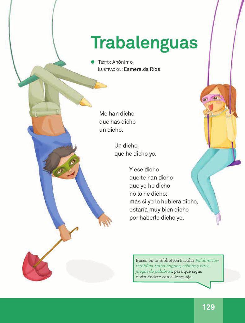Trabalenguas - Español Lecturas 3ro 2014-2015