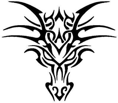 Simple Dragon Head Tattoo