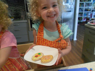 Decorated biscuits are a good no bake cooking activity for kids.
