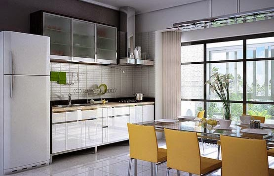 Kombinasi Desain Ruang Makan dan Dapur Minimalis