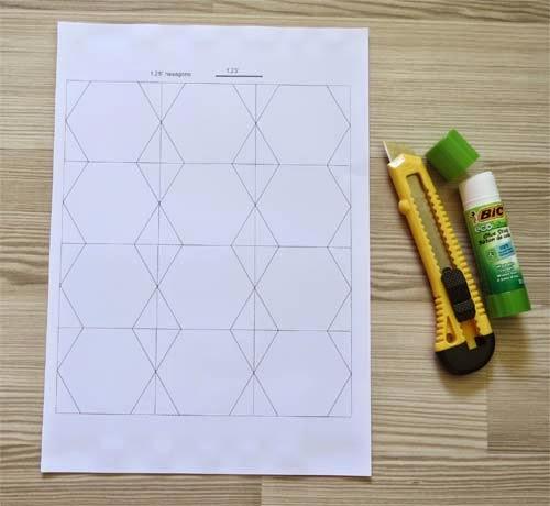 Hexagon malletjes snijden