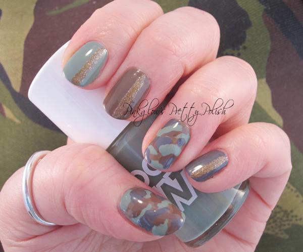 Pinkglows Pretty Polish Uk Nail Art Blog Camouflage Nail Art