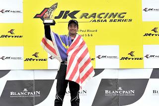 Nabil Jeffri menang di JK Racing Asia Series di Litar Paul Ricard, Perancis