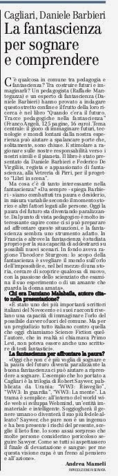 La fantascienza per sognare e comprendere. Daniele Barbieri a Cagliari