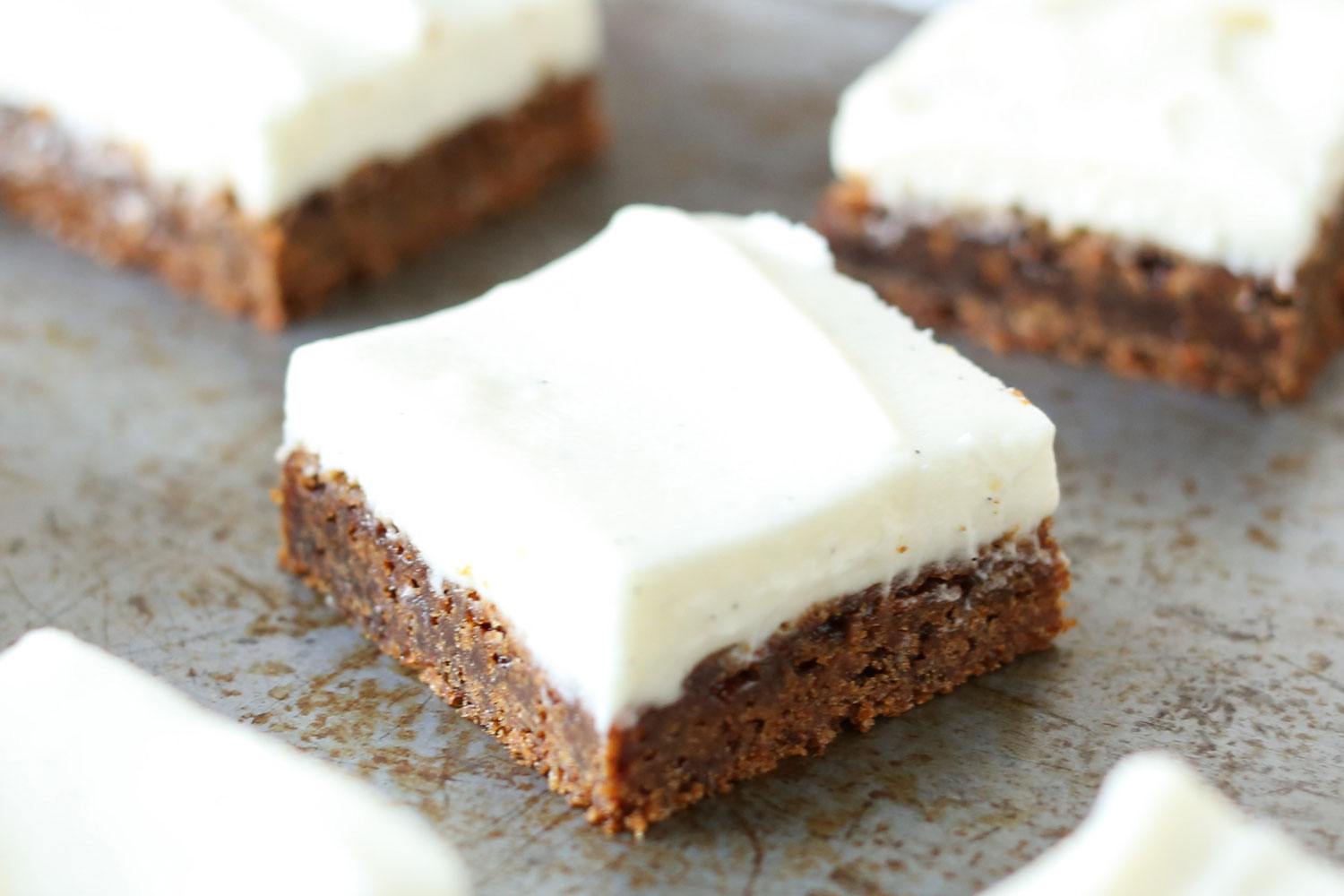 Gingerbread Cookie Bars {traditional and gluten free recipes} by Barefeet In The Kitchen