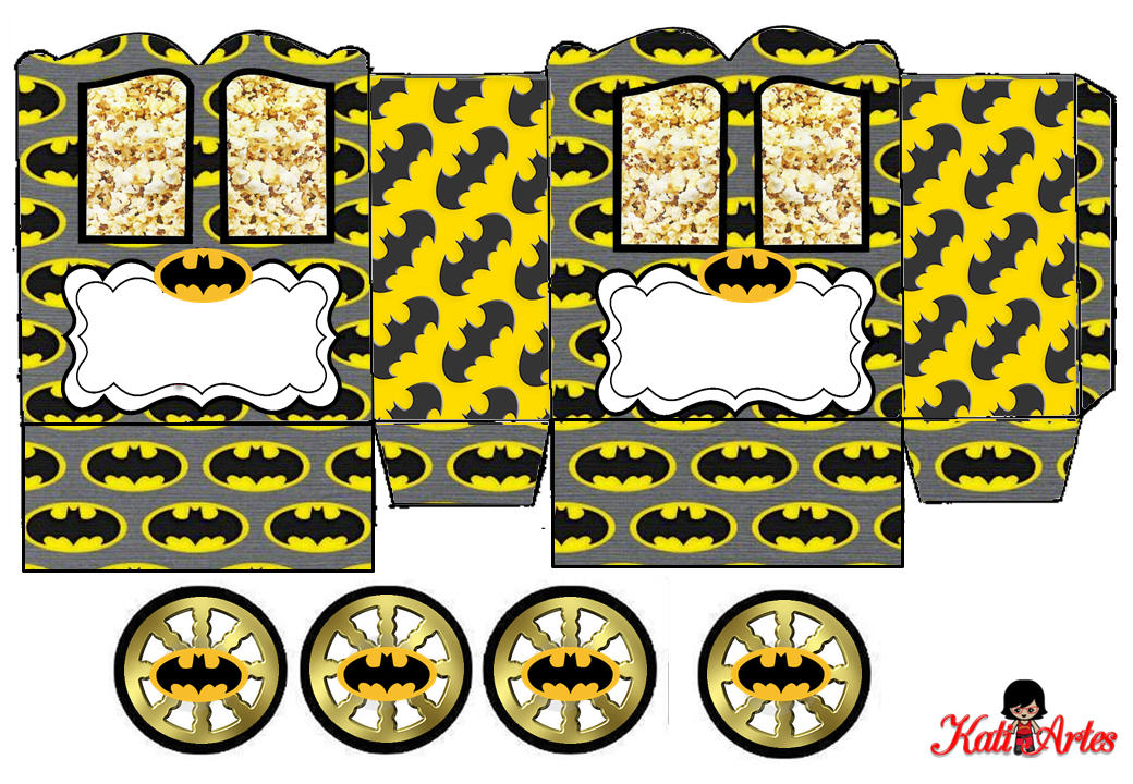 Batman: Princess Carriage Shaped Free Printable Box. | Is ...