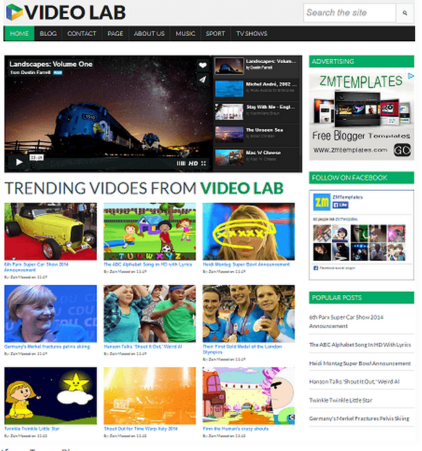 Video Lab Blogger Template