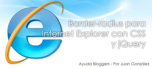 Border-radius para Internet Explorer con CSS y jQuery