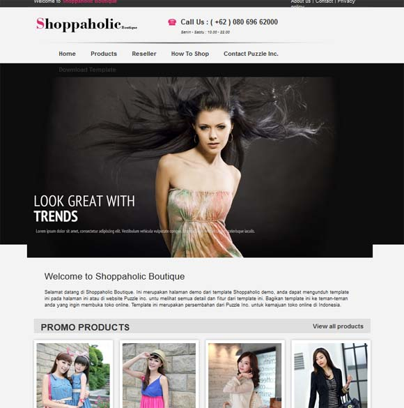Shoppaholic Template