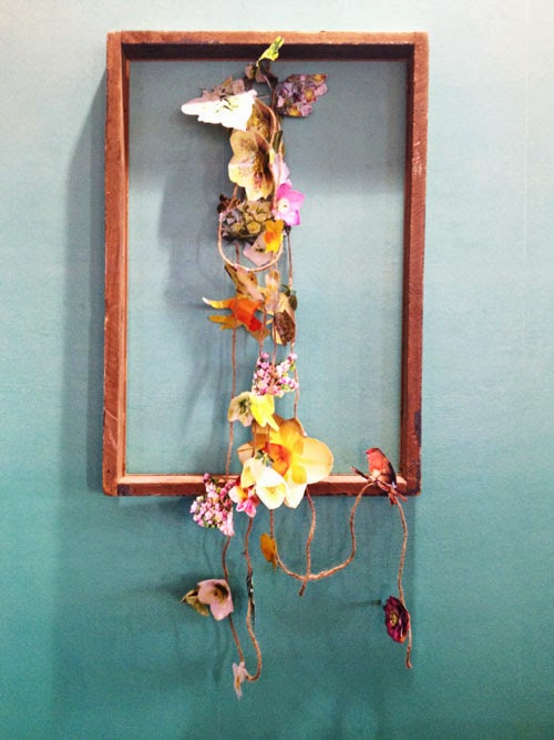 flower garland and old frame via small acorns