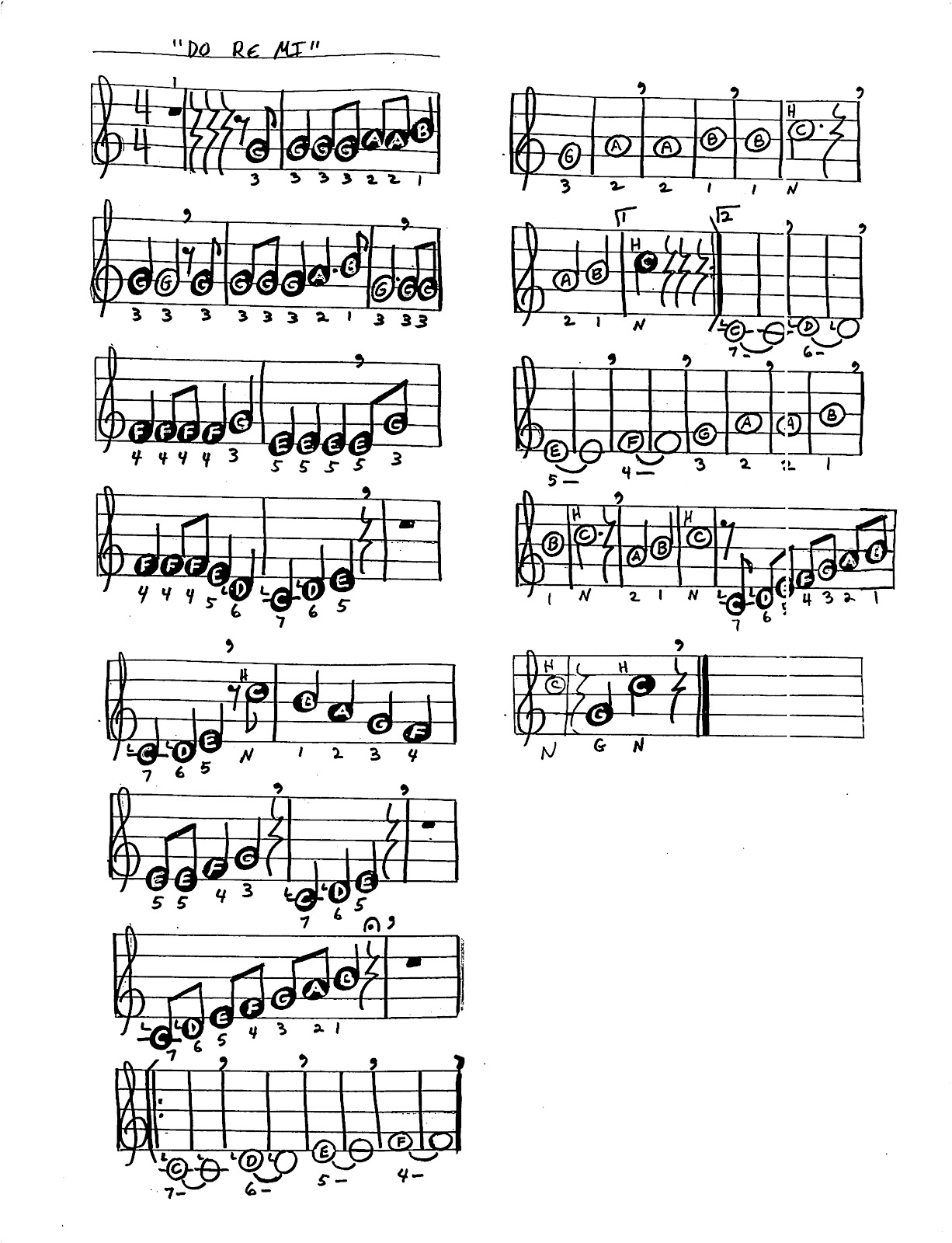 "Frosty The Snowman Lyrics And Sheet Music From ""the sound of music"""