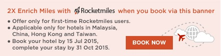 register rocketmiles and book today!