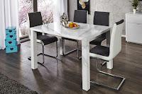 luxusny jedalensky stôl, moderny nabytok, jedalne a kuchyne, biely stôl do kuchyne
